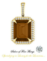 Emerald Cut Smoky Quartz featured on a GuyDesign® Ladies Pendant, DG868937.91020000.398687