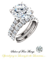 A GuyDesign®, Ladies Engagement, Right Hand, or Wedding Set DG1236519.91020000.1563219 Shown with a 6.43 Carat Hearts & Arrows Benzgem