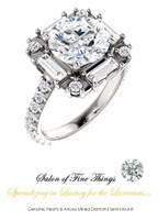 A GuyDesign®, Women's Engagement, Right Hand, or Wedding Set DG2693215.91020000.123962.5 Shown with a 3 Carat Best Quality Hearts & Arrows Benzgem Alternative Diamond