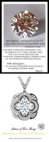 1.91 Carat Hearts and Arrows Benzgem; G-H-I-J Diamond Quality Color Imitation, GuyDesign®, Opulent Platinum and Mined Diamond Pendant Necklace DG121689.91020000.86121.9