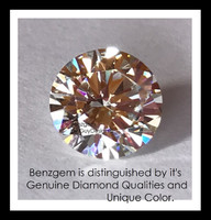 Benzgem by GuyDesign® Most Believable and Realistic .25 Ct. Hearts & Arrows Round... Designed, Hand Cut, and Polished as Real Diamonds are...