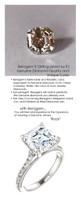 4.50 Benzgem by GuyDesign® 04.50 Carat Asscher Cut Jewelry Sample, Size 7, Tarnish Resistant Silver, 6710-123063