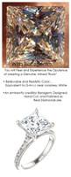 3.81 Benzgem by GuyDesign®, 03.81 Carat Princess Cut Quadrillion, Jewelry Sample, Size 7, Tarnish Resistant Silver 6705-123063