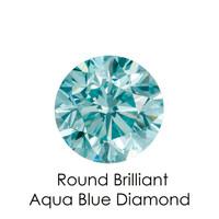 Aqua Blue Round Diamond, Loose Gemstones