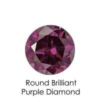 Purple Round Diamond, Loose Gemstones