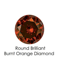 Burnt Orange Round Diamond, Loose Gemstones