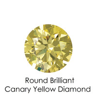 Canary Yellow Round Diamond, Loose Gemstones