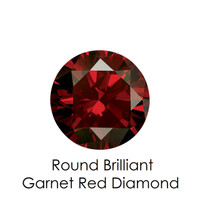 Garnet Red Round Diamond, Loose Gemstones