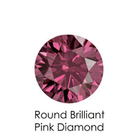 Pink Round Diamond, Loose Gemstones
