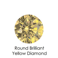 Yellow Round Diamond, Loose Gemstones