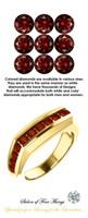 1.40 Carat Red Round Diamonds, Color enhanced Mined Diamonds, 18 Karat Yellow Gold Ring, GuyDesign® Men's Colored Diamond Ring, 10349.5189.5