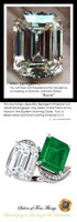 Emerald Engagement Rings, White Gold, Wedding Rings, Simulated Diamond, Diamonds, Wedding Sets, 10381