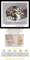 2.66 Ct. Oval Benzgem: Best G-H-I-J Diamond Quality Imitation; GuyDesign® Breast Cancer Survivor's Pendant Necklace: Lab-Grown Pavé Diamonds Custom Gold Jewelry, 10394