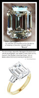 5.50 Ct Emerald Cut Benzgem: Best G-H-I-J Diamond Quality Imitation: GuyDesign® Vera Krupp, Elizabeth Taylor Style Engagement Ring: Lab-Grown Baguette Diamonds 18K two-tone Jewelry, 10420