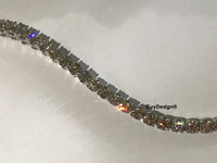 "00010 18k White Gold Diamond Bracelet 5.6"" or 14.2 cm. Bespoke Length"