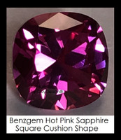 4 Carat 9x9 millimeter Square Cushion Cut Pink Sapphire, 10468 Lot 9, Excellent Cut Real Sapphire created in a Laboratory