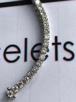 """00075 18k White Gold Diamond Bracelet 7.6"""" or 19.37 cm. Bespoke Length"""