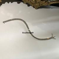 """00095 18k White Gold Diamond Bracelet 8.2"""" or 20.94 cm. Bespoke Length"""
