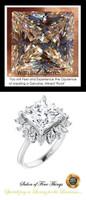 00001-C Platinum Diamond 3.81 ct Benzgem Cocktail Ring
