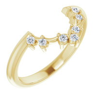 00004-B 18k Yellow Gold Diamond GuyDesign Wedding Ring
