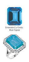 0000248 Platinum Hearts & Arrows 64 Diamond Swiss Blue Topaz Custom Jewelry