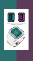 0000844 Platinum Hearts & Arrows Diamonds 7.3 ct. Alexandrite Mens Ring