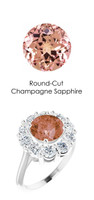 000036803 Plat. Max Sparkle H & A Diamonds 2.7ct Sapp. Diana Ring
