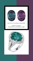 0000359 Platinum 84 Diamonds 6.4 ct. Alexandrite Bespoke Halo Ring