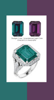 0000362 Platinum 88 Diamonds 7.2 Ct. Alexandrite Bespoke Halo Ring