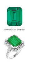 0000356 Plat Hearts & Arrows 28 Diamonds 5.6 Ct. Emerald Bespoke Ring