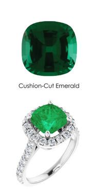 0000358 Plati Hearts & Arrows 30 Diamonds 2 ct. Emerald Bespoke Ring