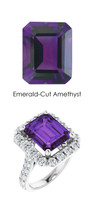0000349 Platinum Hearts & Arrows 28 Diamonds 5.9 ct. Amethyst Bespoke Ring