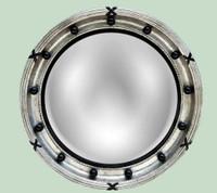Classic Elements, 22t x 22w Round Shape Convex Glass Reproduction Mirror, Custom Finish