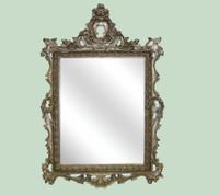 "Classic Elements, 48"" Rectangular Shape Beveled Glass Reproduction Mirror, Custom Finish"