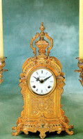 Fancy d'Oro Ormolu - Desk, Shelf, Mantel Clock - Choose Your Finish - Handmade Reproduction of a 17th, 18th Century Dore Bronze Antique, 6073