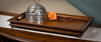 Classic Style, Mahogany Hardwood, 24 Inch Decorative | Serving Tray, Rich Wood Finish