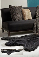Petit Black Bear Faux Skin 38w X 58L Rug - Natural Look and Authentic Shape