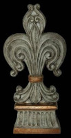 Classic Elements, Fleur de lis 17.75t x 6.5w Finial, Custom Finish