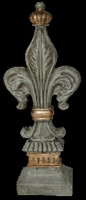 Classic Elements, Fleur de lis 17t x 4.75w Finial, Custom Finish