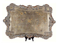 Luxe Life Dragonflies, Butterflies and Blossoms, Serpentine 24 Inch Display or Serving Tray