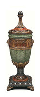 Luxe Life Hand Sculpted Marble and Gilt Bronze Ormolu - Neo Classical, Louis XVI Style - 34 Inch Covered Urn