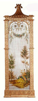 Luxe Life Hand Painted 52 Inch Wall Panel Art - Metallic Silver Outdoor Scene 5373 ME - Wall Panel Art
