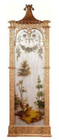 Luxe Life Hand Painted 52 Inch Wall Panel Art - Metallic Silver Outdoor Scene