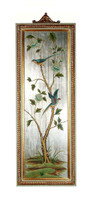 Luxe Life Hand Painted 52 Inch Wall Panel Art - Metallic Silver Nature Design