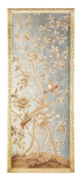 Luxe Life Hand Painted 51 Inch Left Facing Wall Panel Art, Metallic Silver Leaf Nature Design