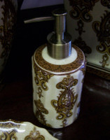 Mosaic Magnificence, Luxury Handmade Reproduction Chinese Porcelain, 6 Inch Lotion or Soap Dispenser, Style G094 or N094