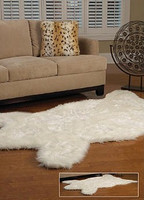 Polar Bear Faux Skin Rug - Natural Look and Authentic Shape - 56 Inches X 93 Inches