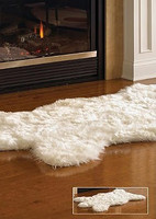 Petit Polar Bear Faux Skin Rug - Natural Look and Authentic Shape - 38 Inches X 58 Inches