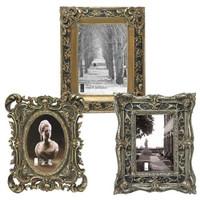 Ornate Baroque Style Photo Frames, Set of Three