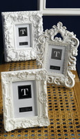 Ornate Baroque Style 4 X 6 Photo Frames, Contemporary White Finish